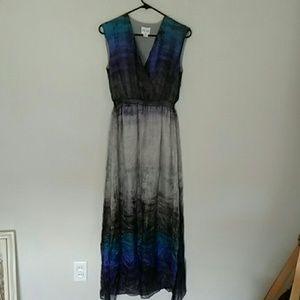 Reiss ombre silk maxi dress